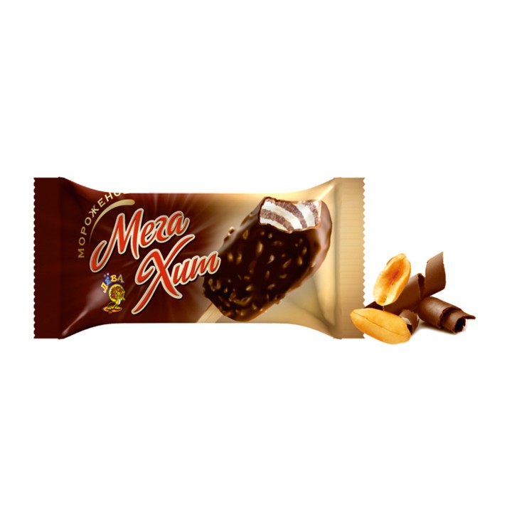 «Мегахит» </br>двухслойное ванильное и шоколадное в шоколадной глазури с орешками