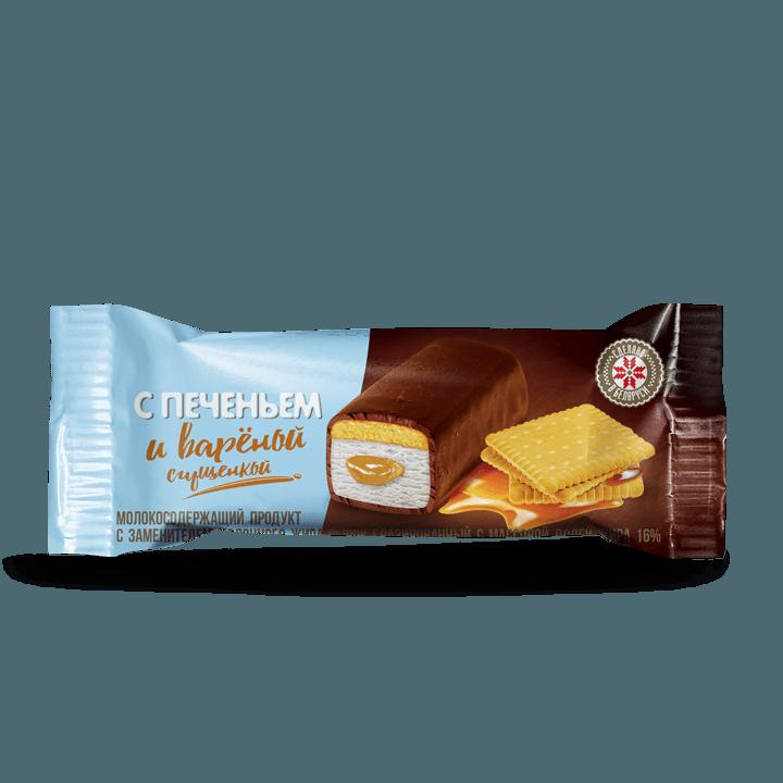 Сырок глазированный «Варёная сгущёнка» с печеньем, 16%