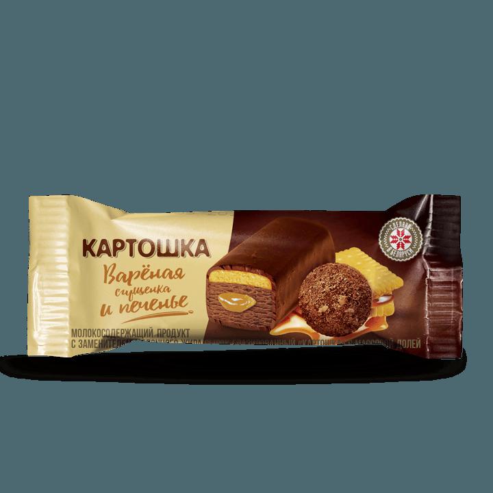 Сырок глазированный «Картошка» с печеньем, 16%