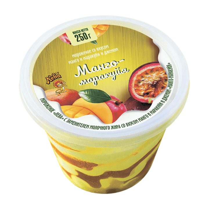 «Лева» </br>со вкусом манго и маракуйя и наполнителем «Манго-маракуйя»