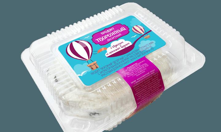 Творожный продукт «Десертный» с ванилином и изюмом, контейнер, 14%